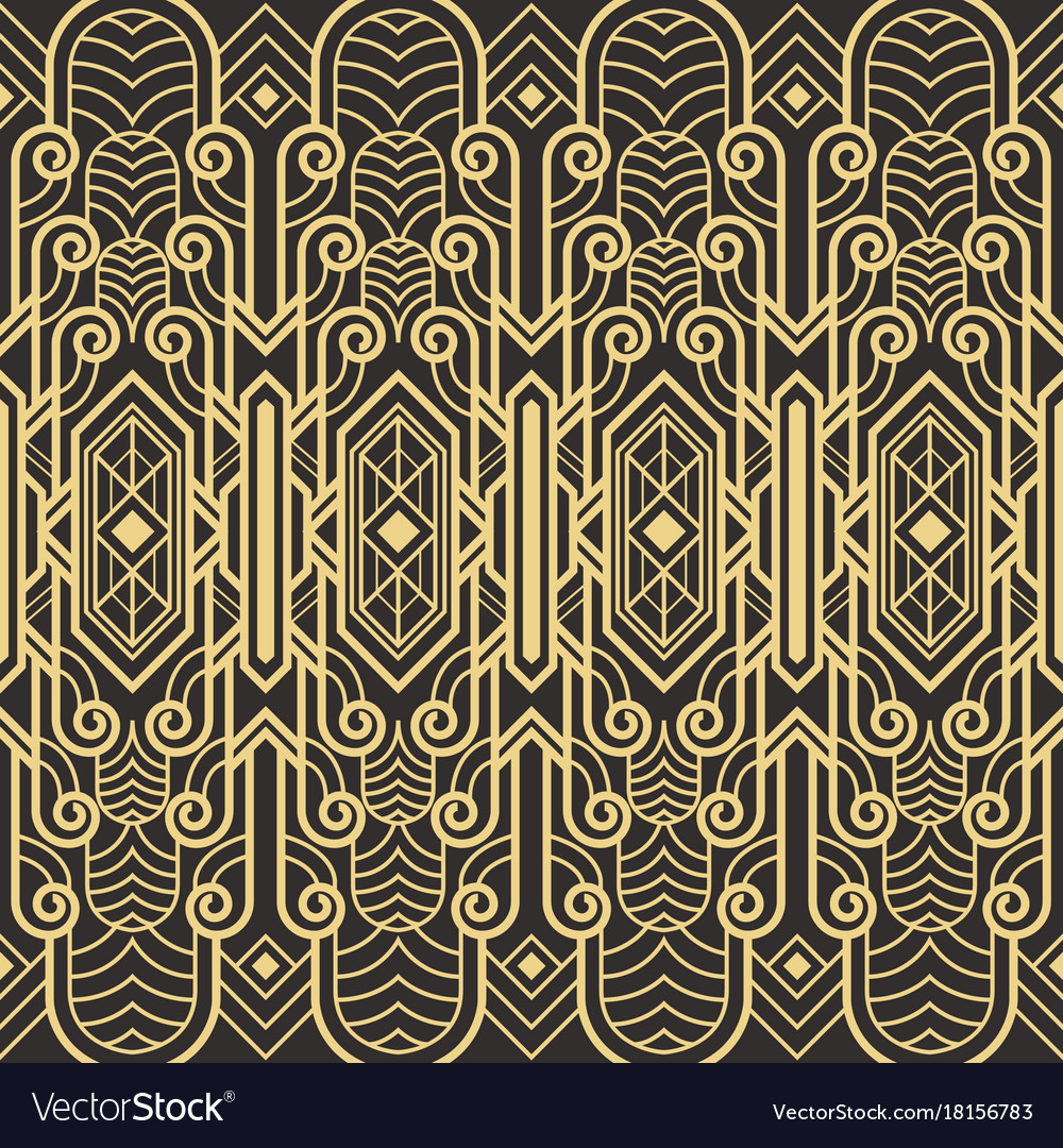 Abstract art deco seamless pattern Royalty Free Vector Image
