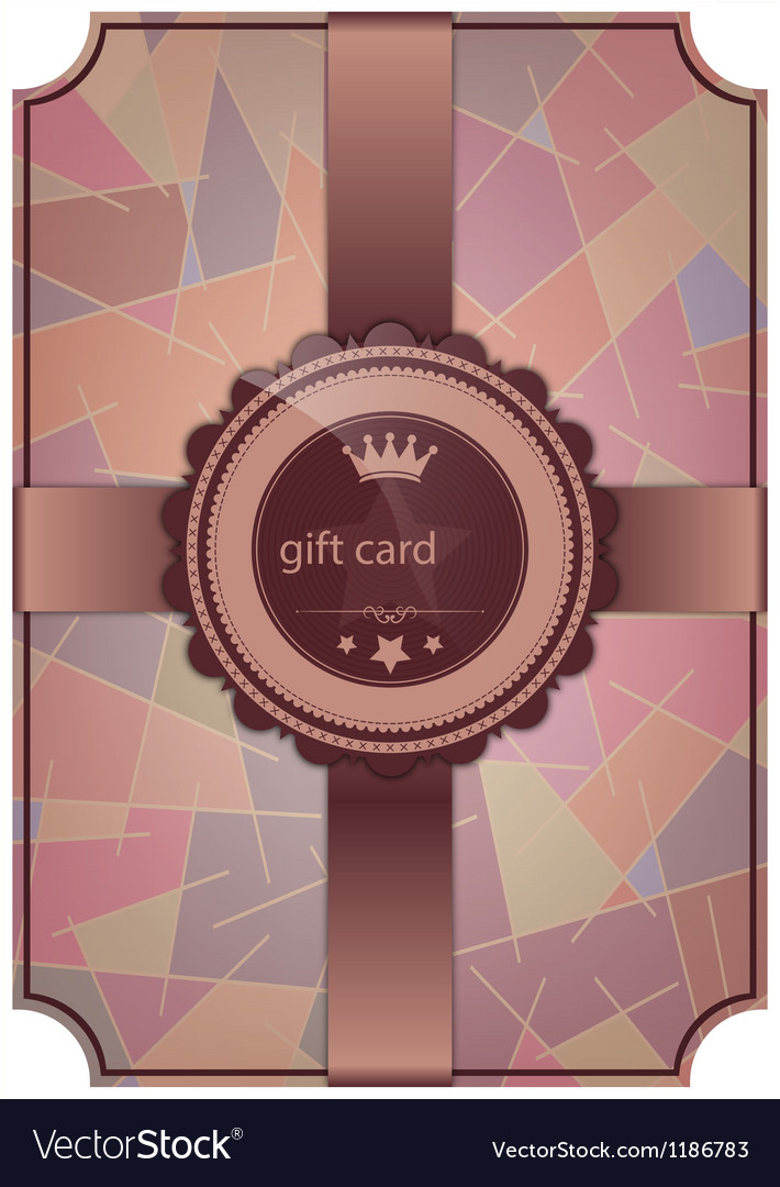 Abstract gift card