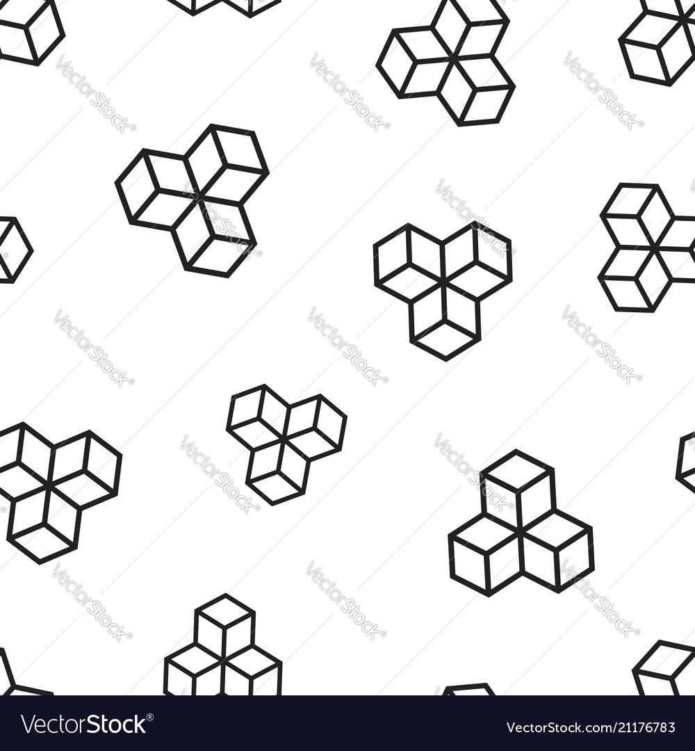 Blockchain technology icon seamless pattern