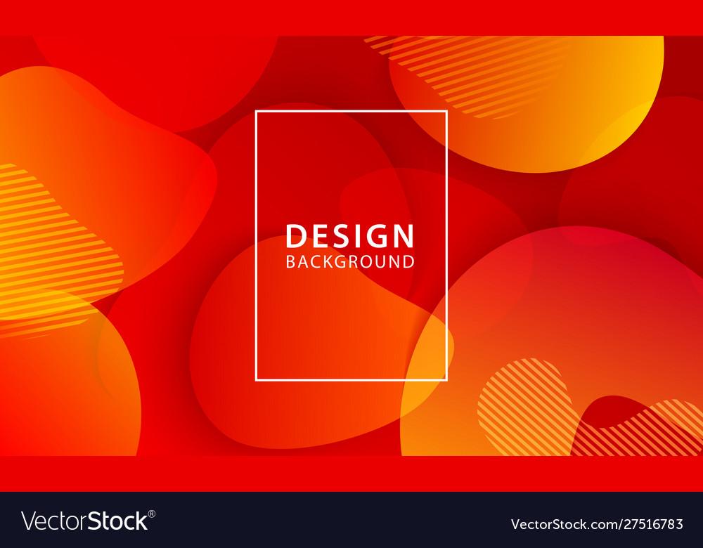 Fluid shape banner design background liquid