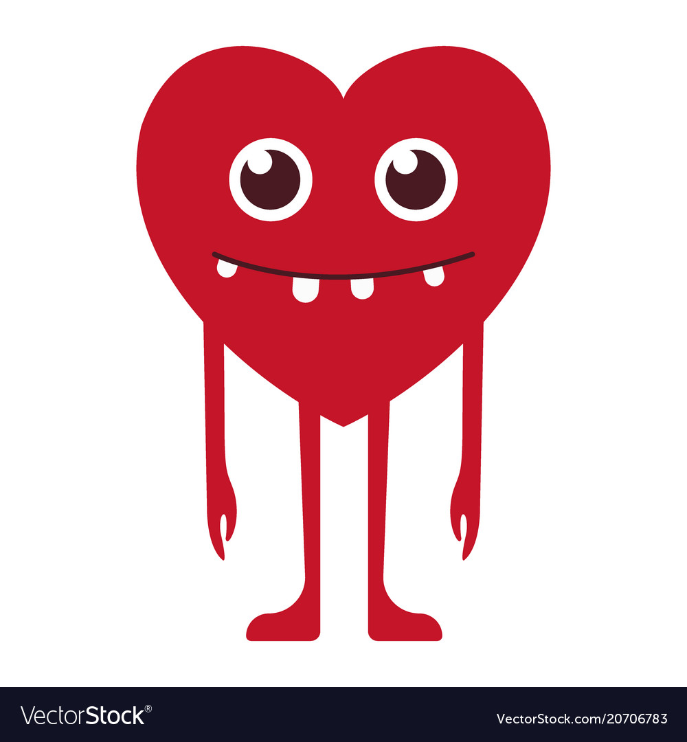 Heart with a smile vector image