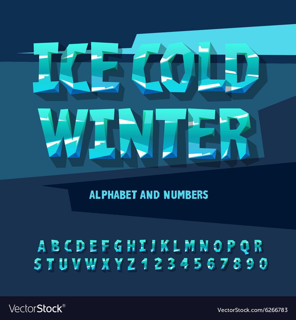 Ice letters and numbers