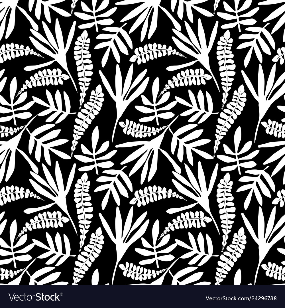 Abstract floral seamless pattern with trendy hand