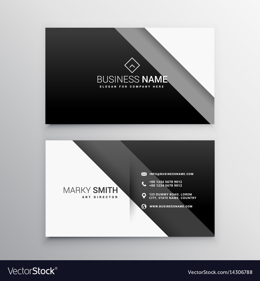 Black and white minimal business card royalty free vector black and white minimal business card vector image colourmoves