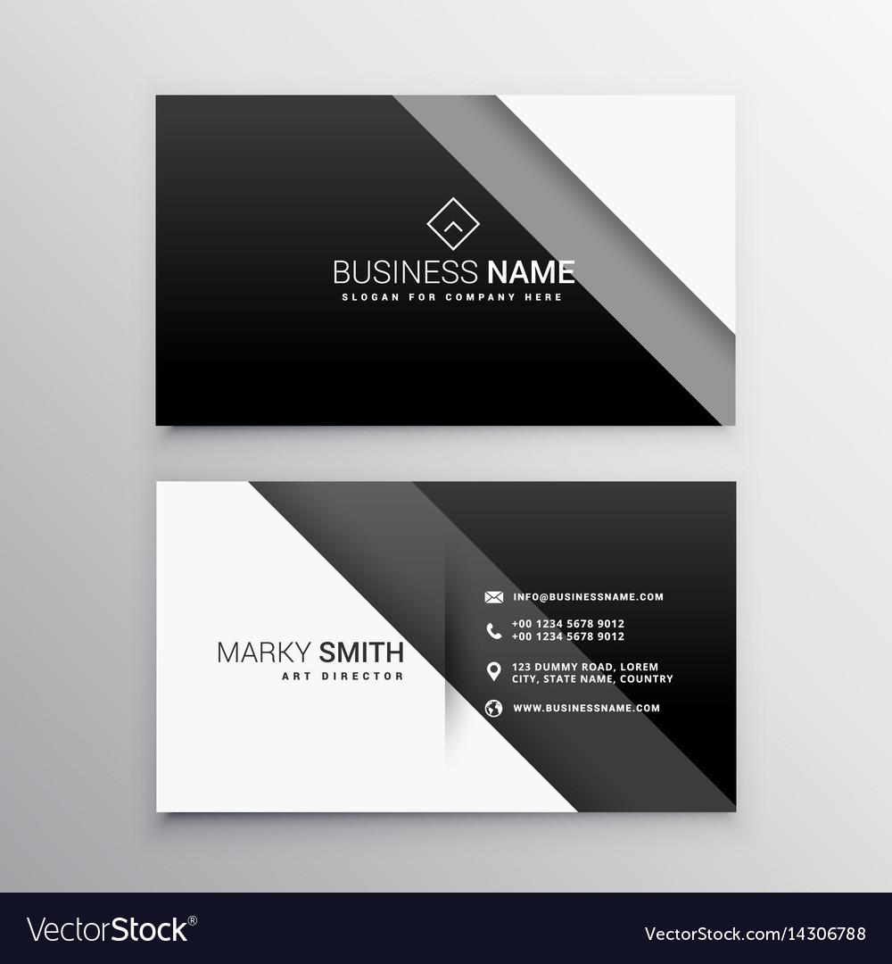 Black and white minimal business card royalty free vector black and white minimal business card vector image colourmoves Choice Image