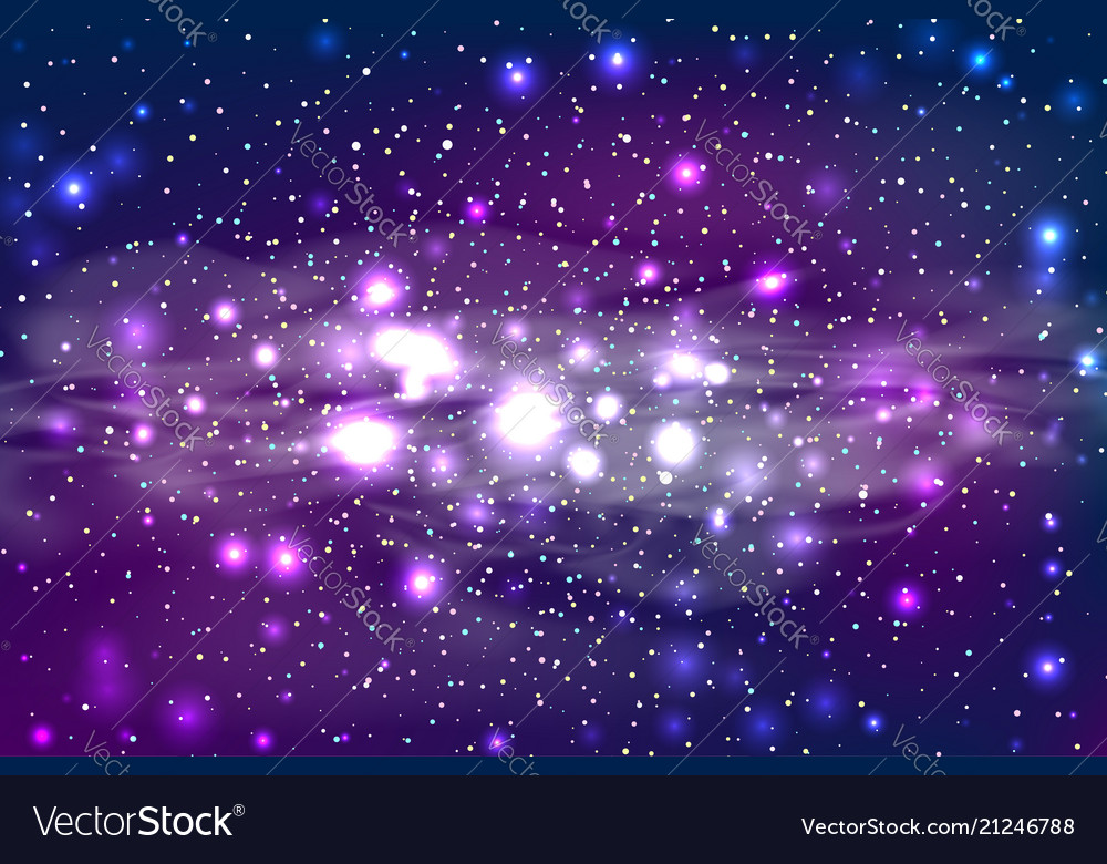 Dark star space bokeh light background
