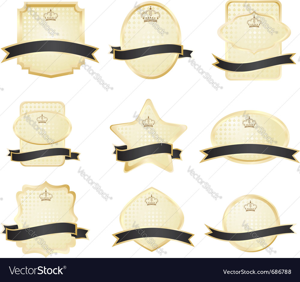 Decorative ornate golden frames