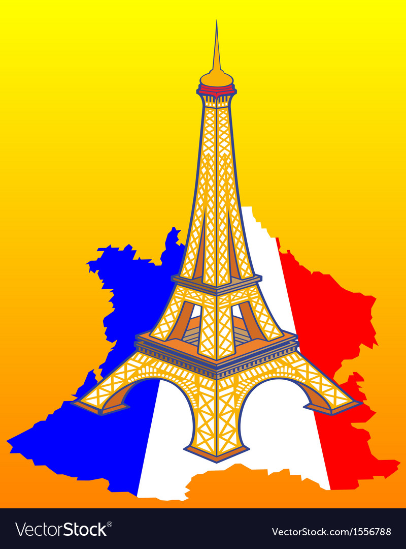Map Of France Eiffel Tower.Eiffel Tower On The Map Of France