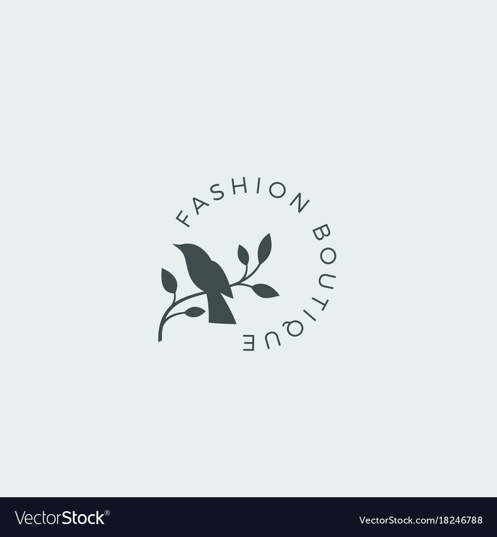 Fashion boutique abstract sign symbol or