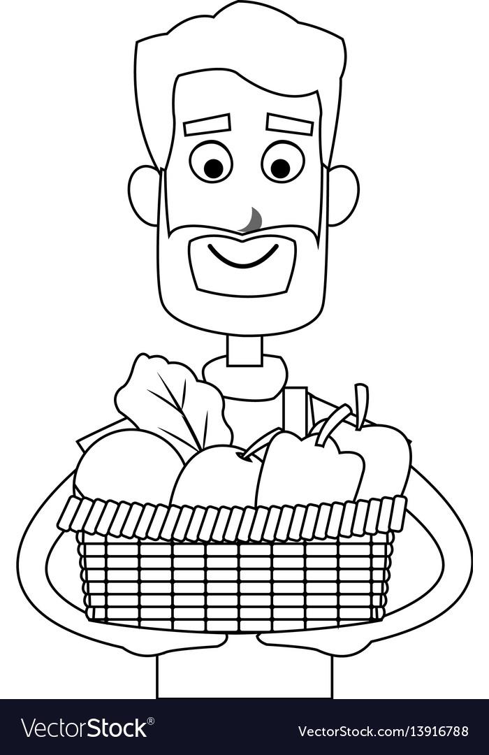 Happy farmer icon image