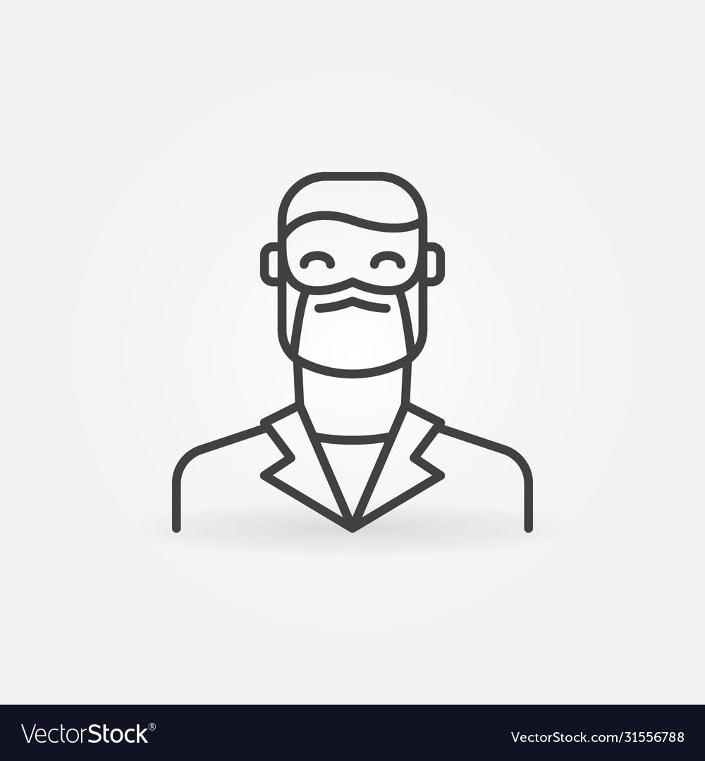 Man doctor in face mask outline concept