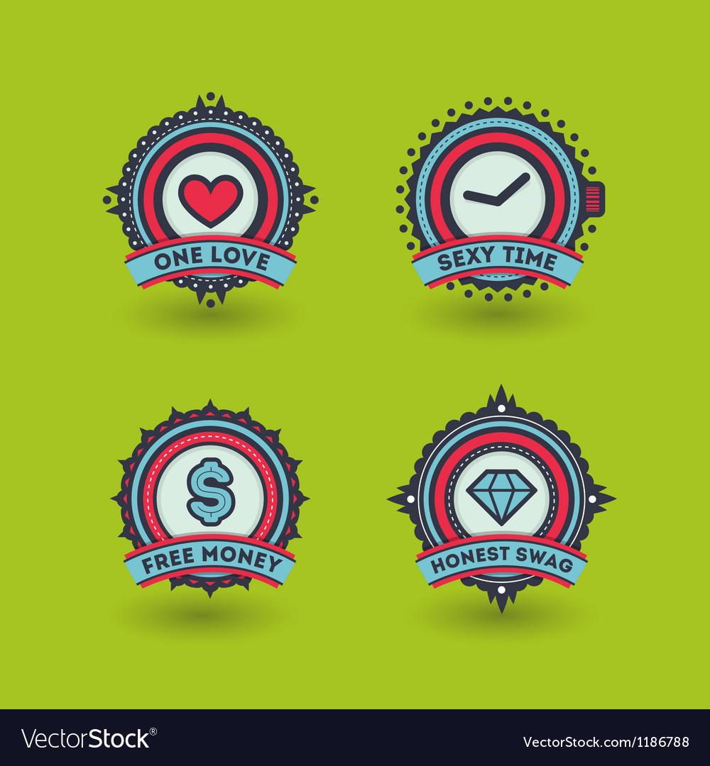 Trendy badges
