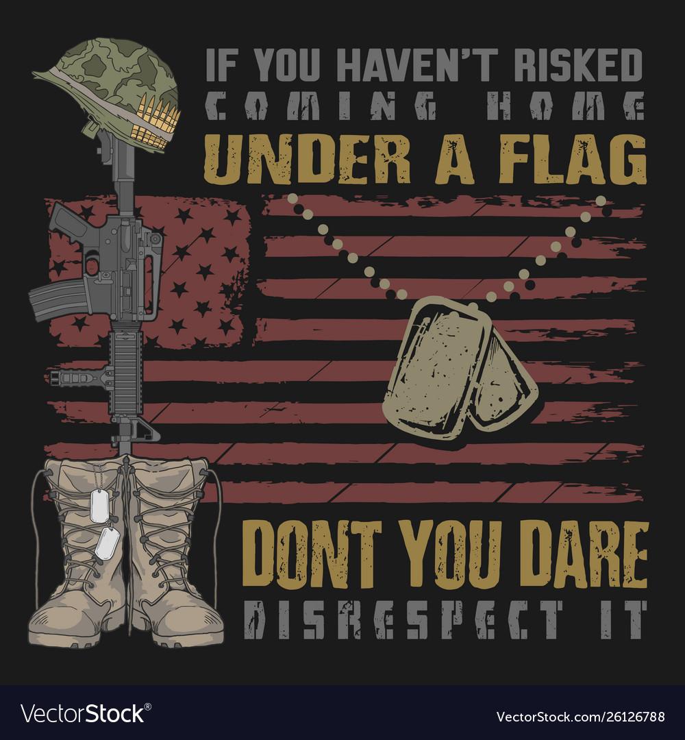 Veteran design boots and gun