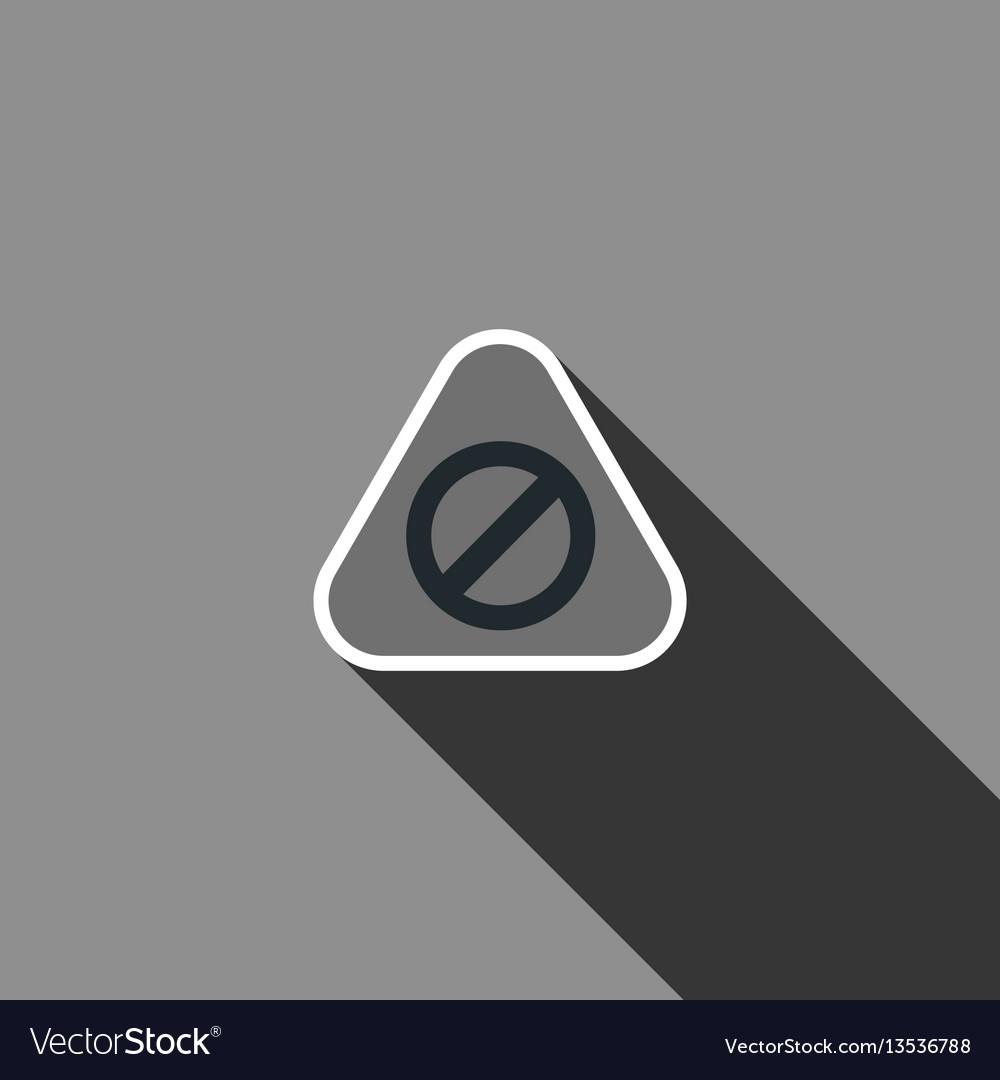 Warning sign icon with long shadow