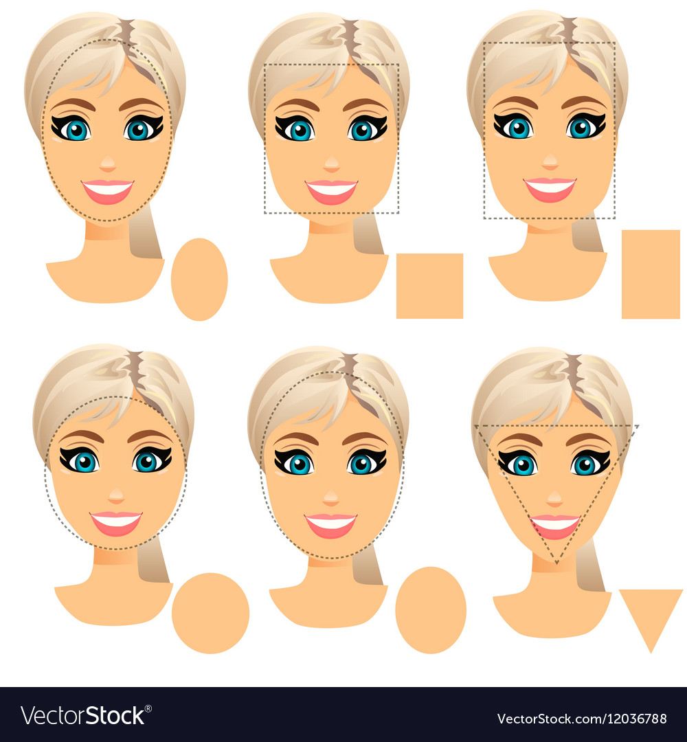 Astonishing Woman Face Shape Types Royalty Free Vector Image Natural Hairstyles Runnerswayorg