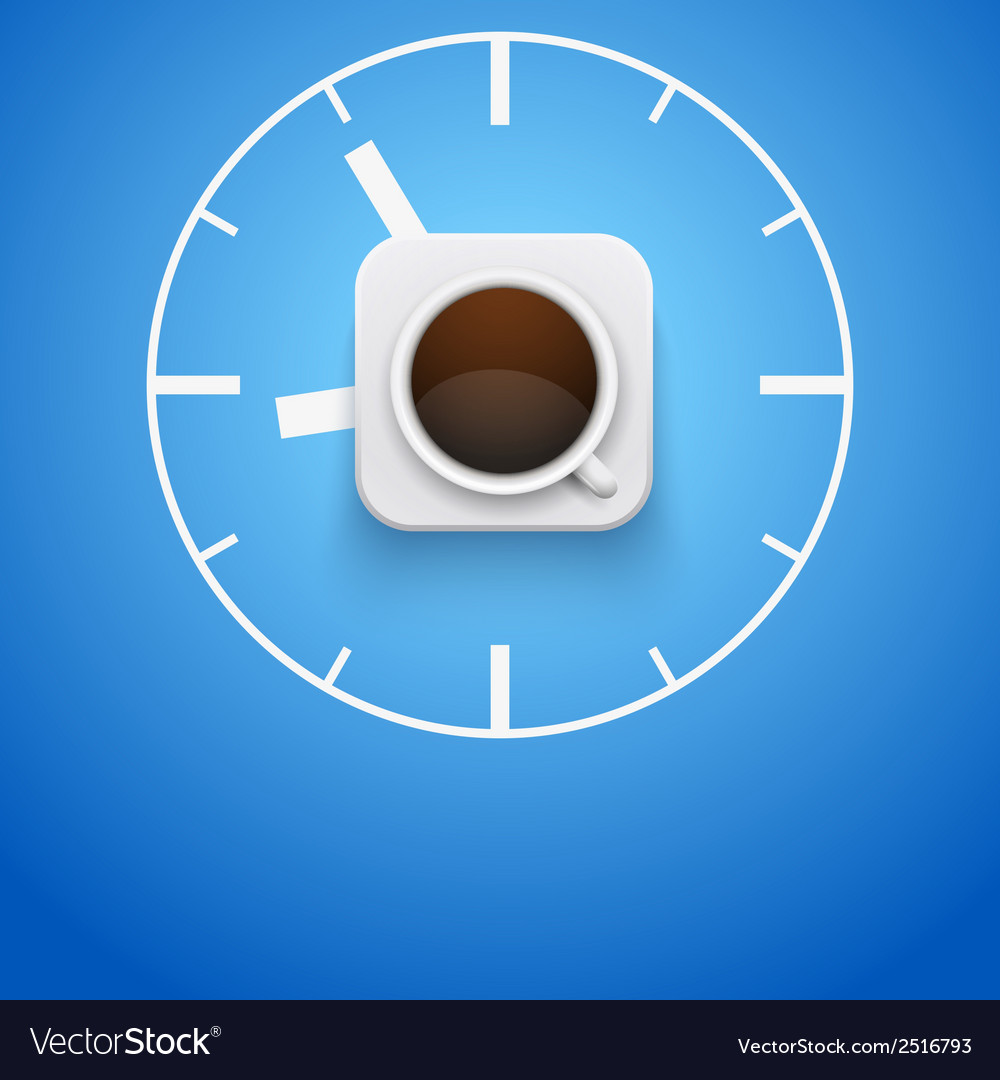 Background cup of coffee and time