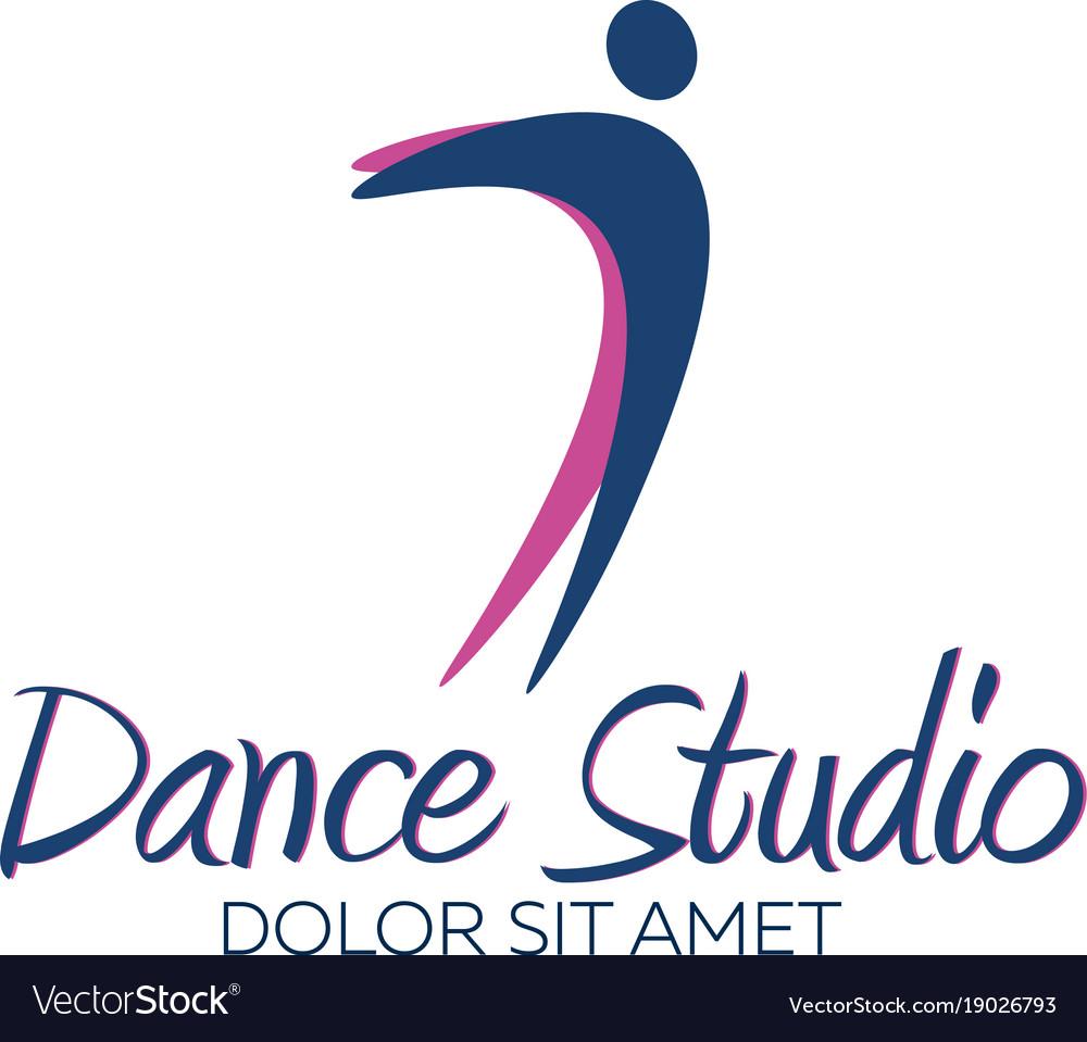 dance studio logo dancer logotype royalty free vector image rh vectorstock com dance studio logo dance studio logos samples