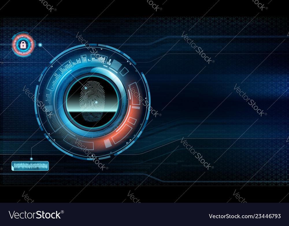 Fingerprint scan technology user interface