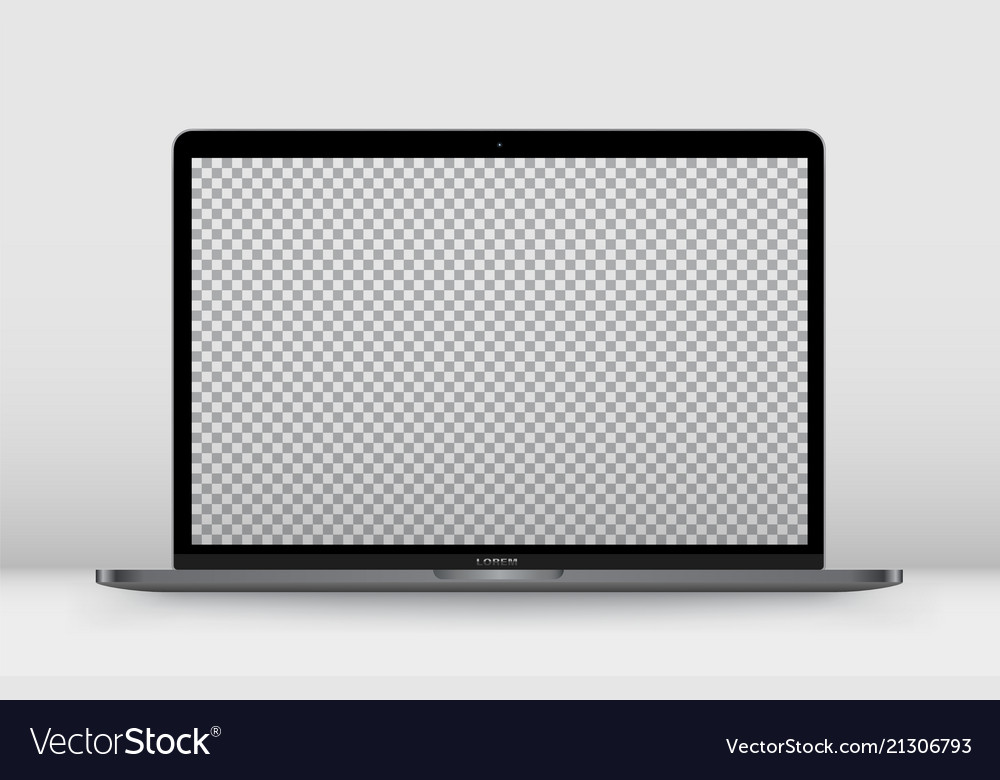 Laptop perspective transparent