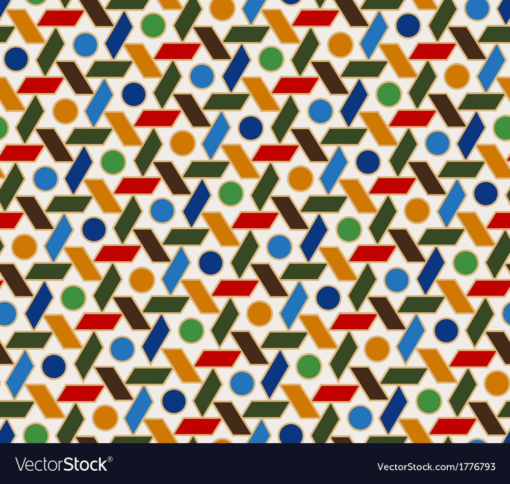 seamless islamic geometric pattern vector image
