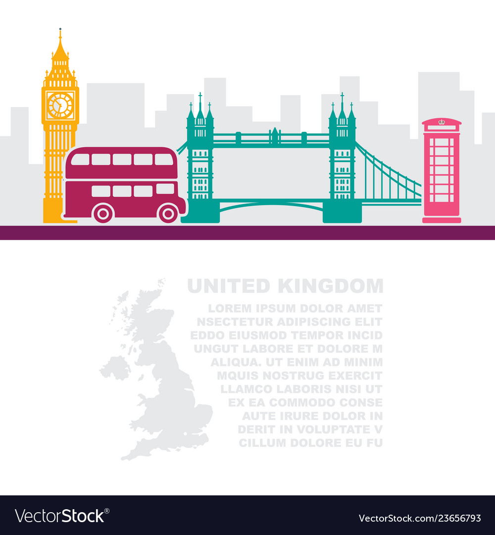 Template leaflets with a map great britain and