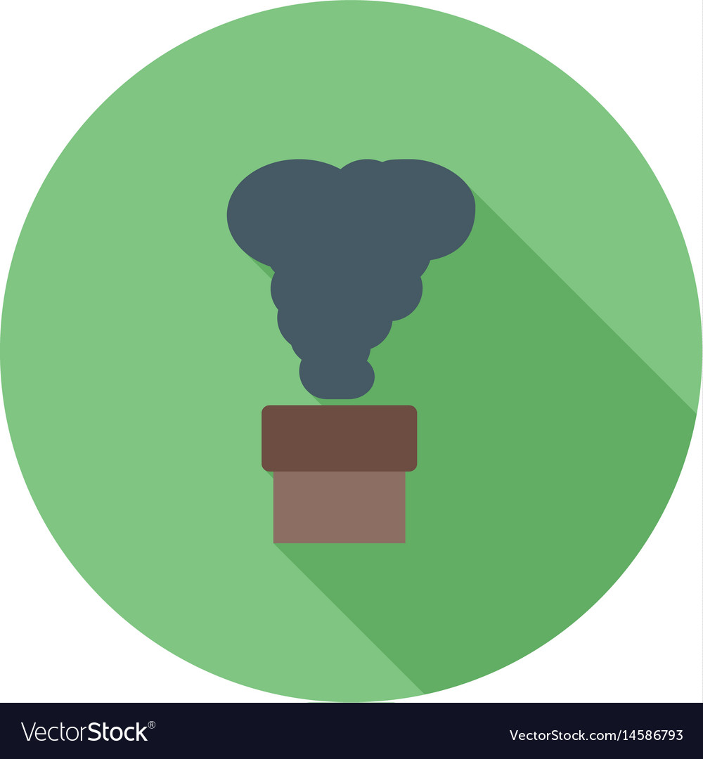 Toxic fumes release vector image