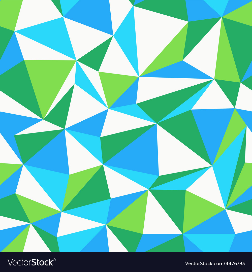 Triangle green and blue pattern seamless