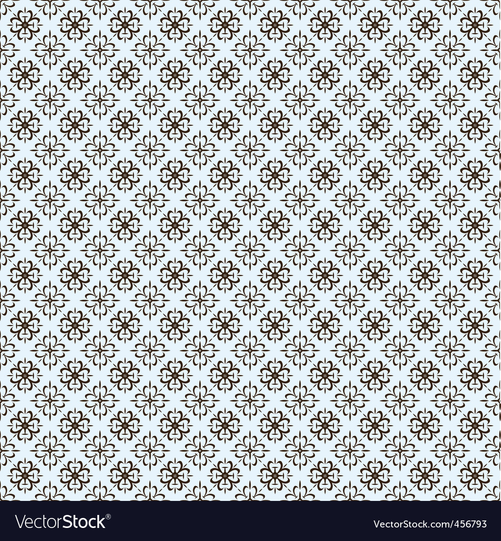 Vector repeating ornate clover pattern vector image