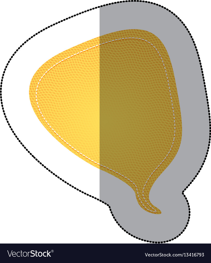 Yellow drop chat bubble icon