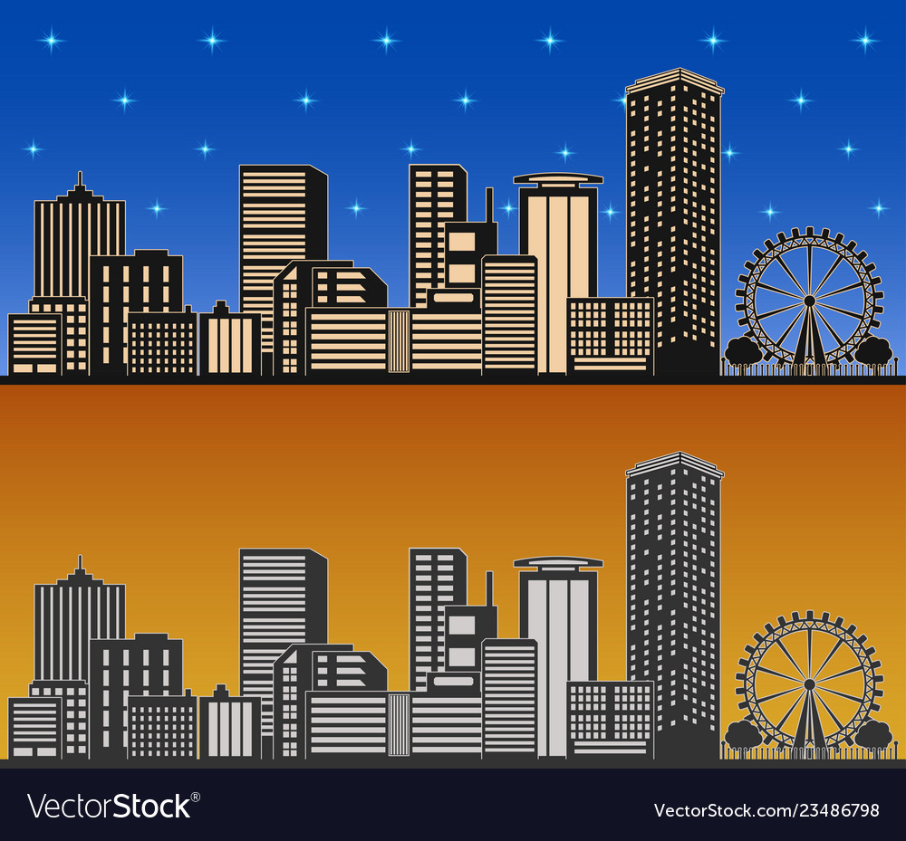 City day and night