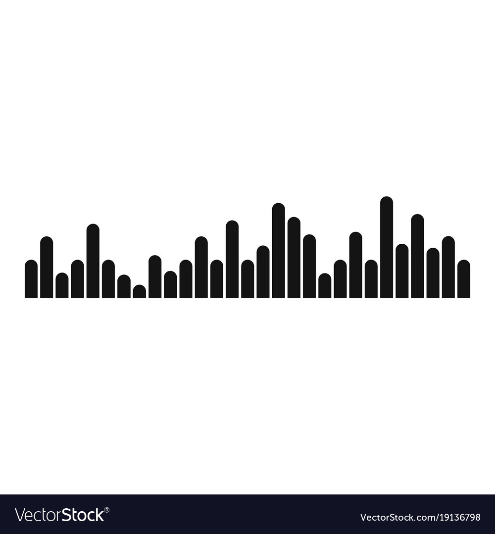 Equalizer vibration icon simple black style Vector Image
