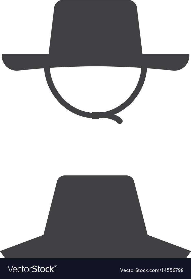 Farmer straw hat icon