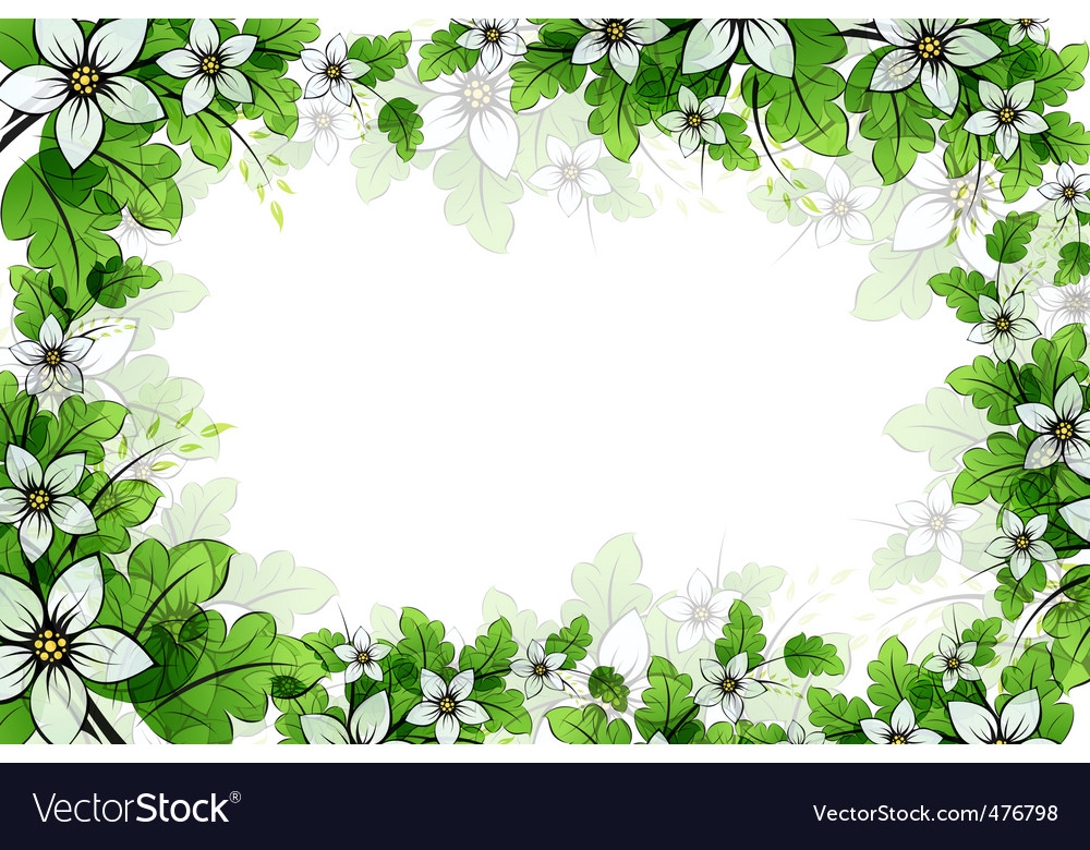 Floral frame Royalty Free Vector Image - VectorStock