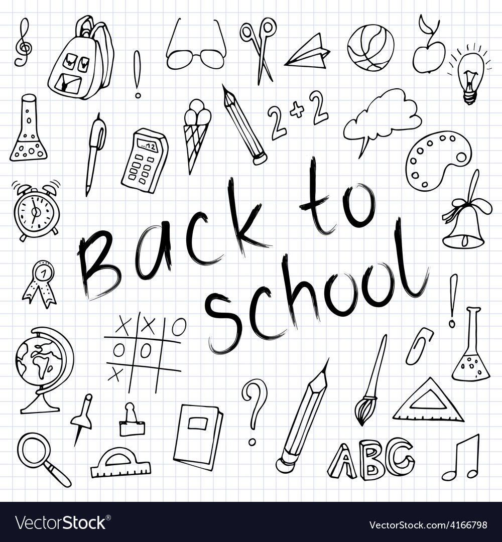 Hand drawn back to school doodles Paper Background