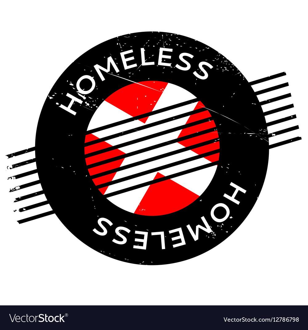 Homeless rubber stamp