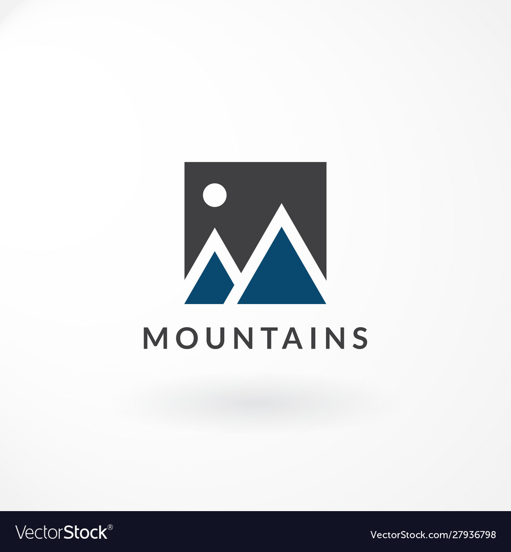 Logo design with combination moon and mountain