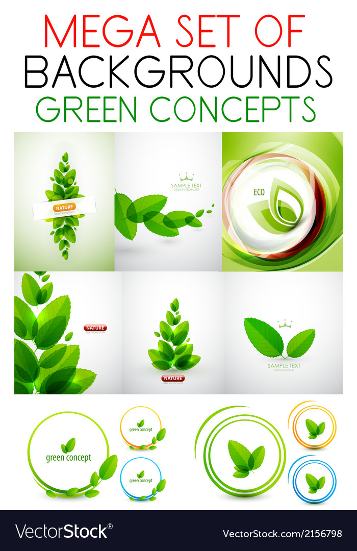 Mega set of green concepts