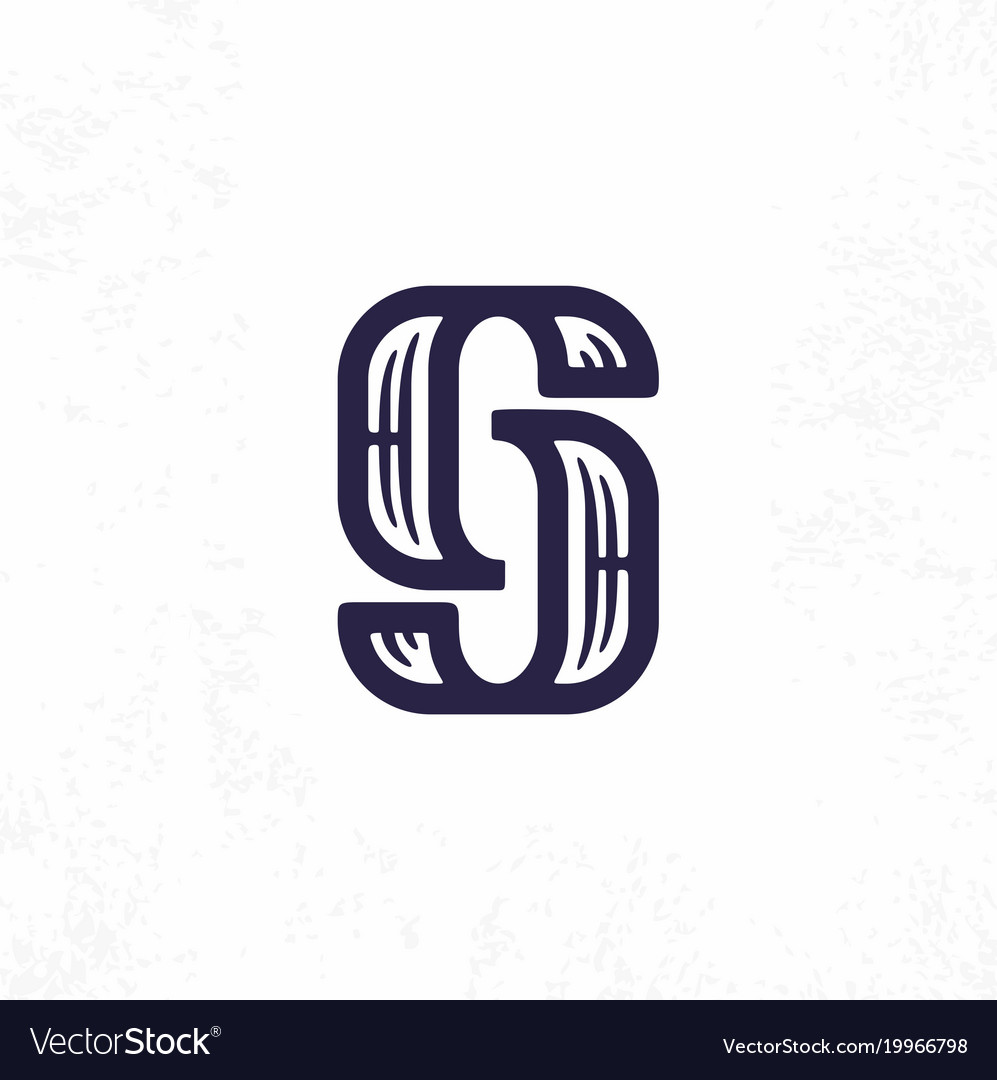 Modern professional sign logo gj monogram