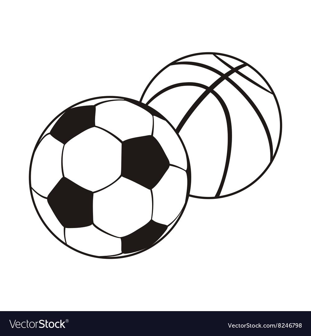 Monochrome Set Ball for Football and Basketball