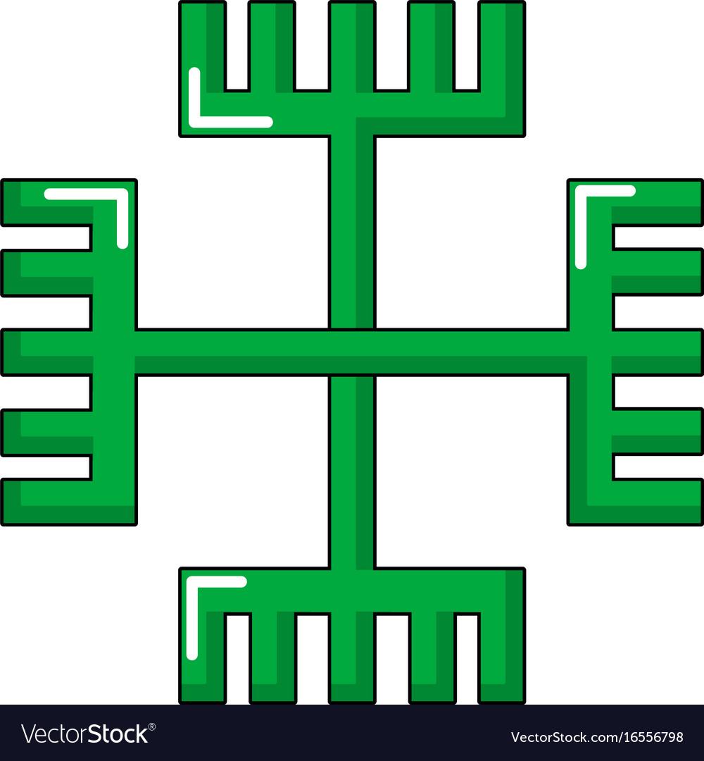 Pagan Ancient Symbol Icon Cartoon Style Royalty Free Vector