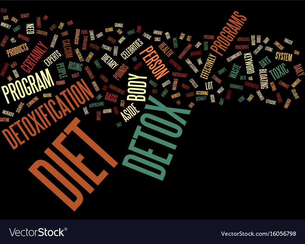 The detox diet text background word cloud concept