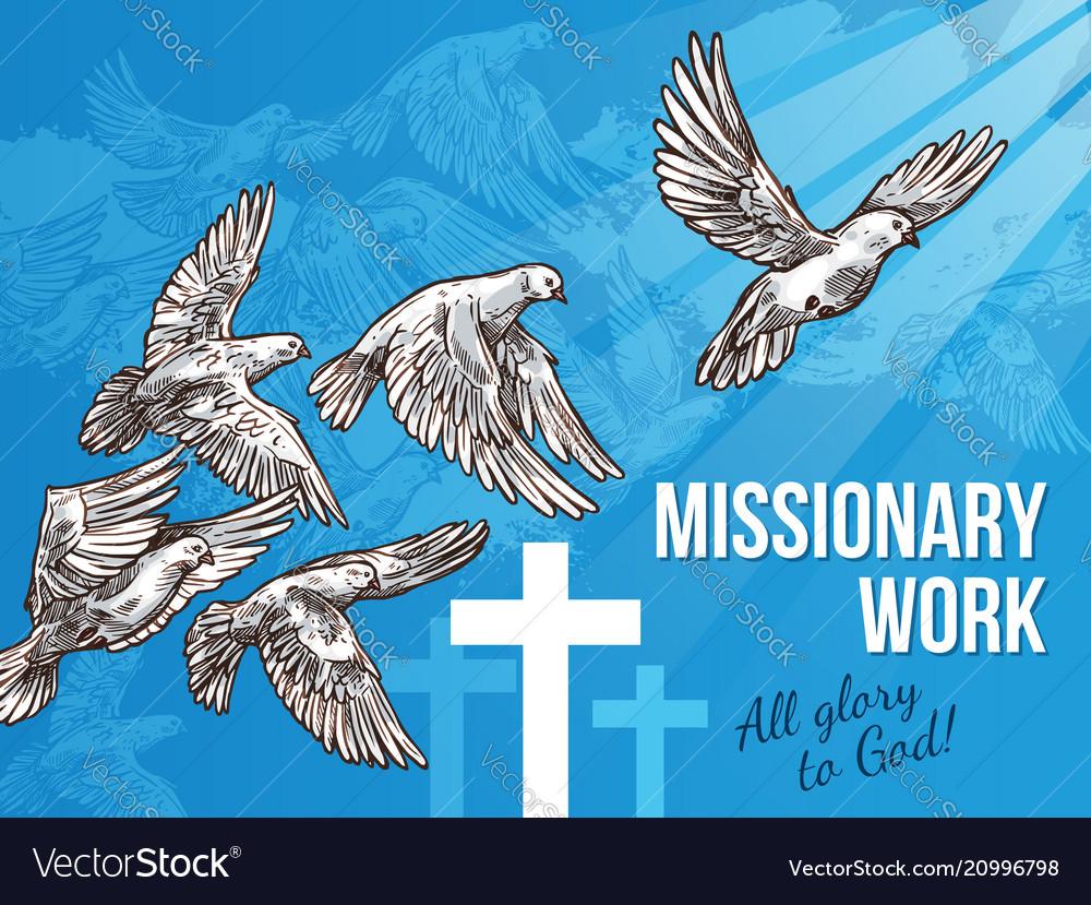 White dove banner for world peace day design