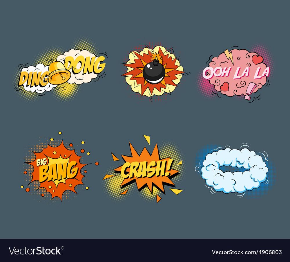 Comic blank text speech bubbles in pop art style