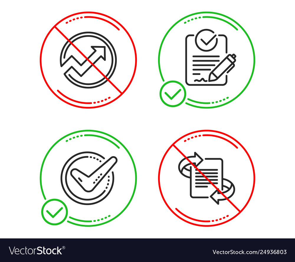 Confirmed audit and rfp icons set marketing sign