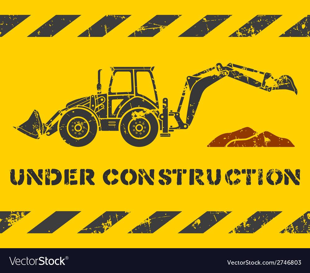 Excavator and dirt
