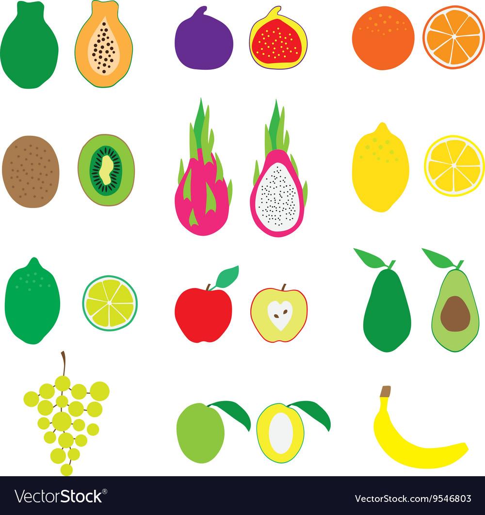 Fruits Big Set Flat Organic