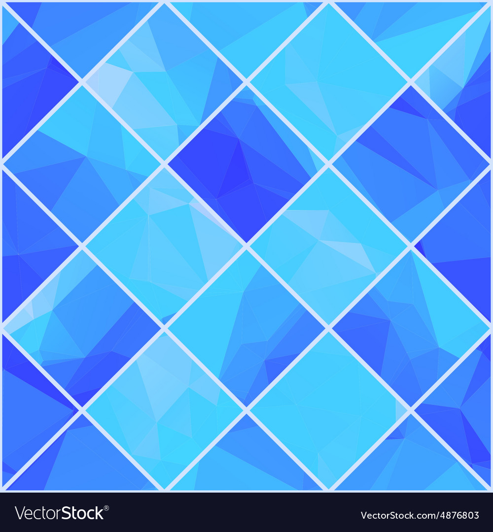Geometric mosaik blue background