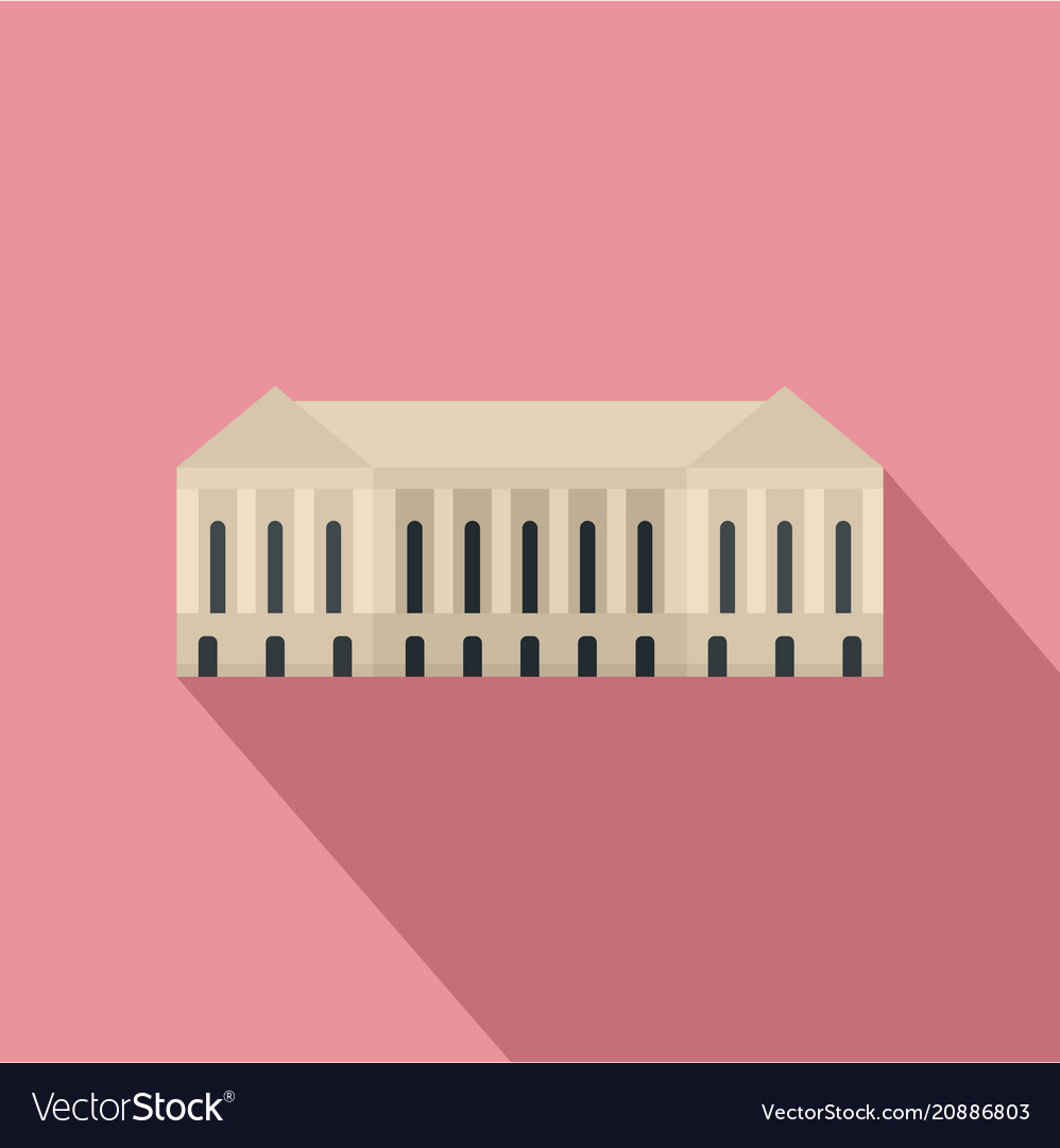 Parliament building icon flat style
