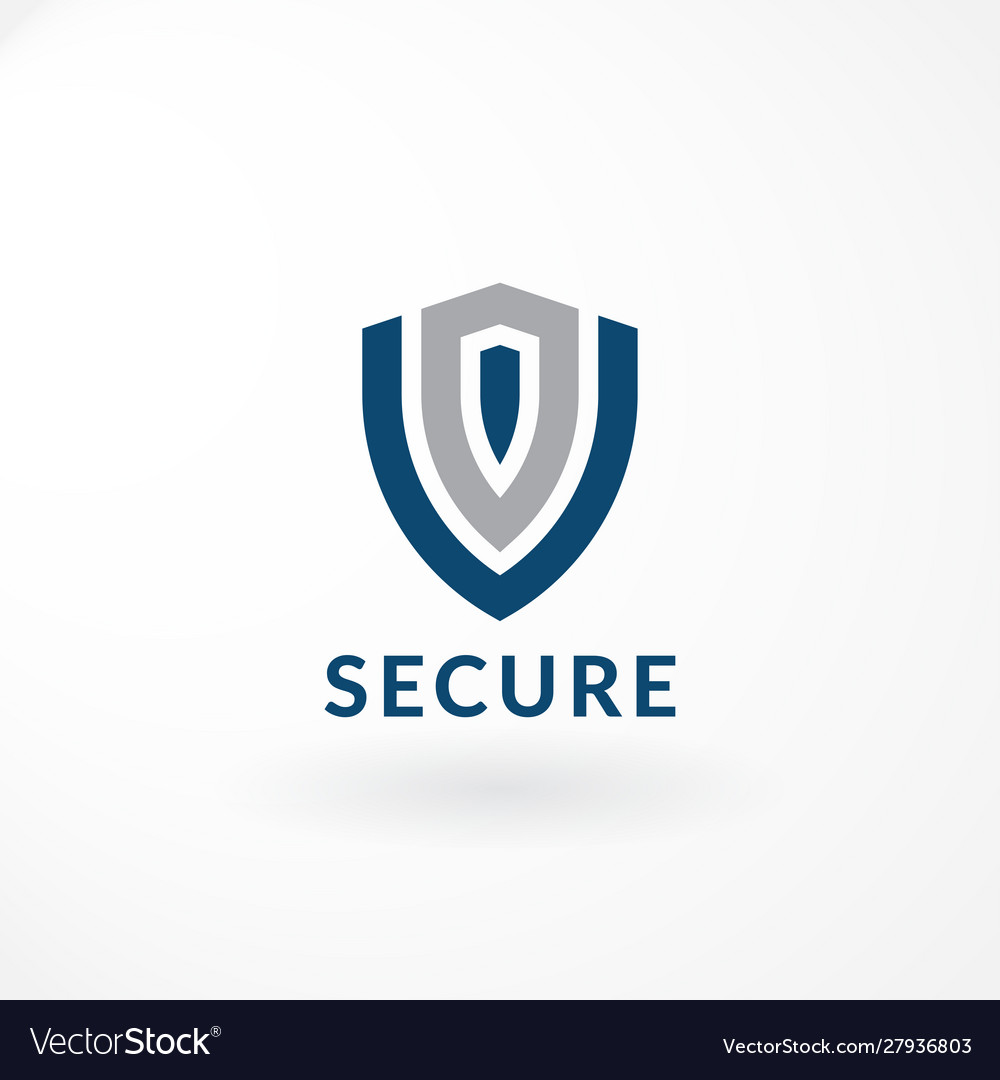 Security logo with shield symbol