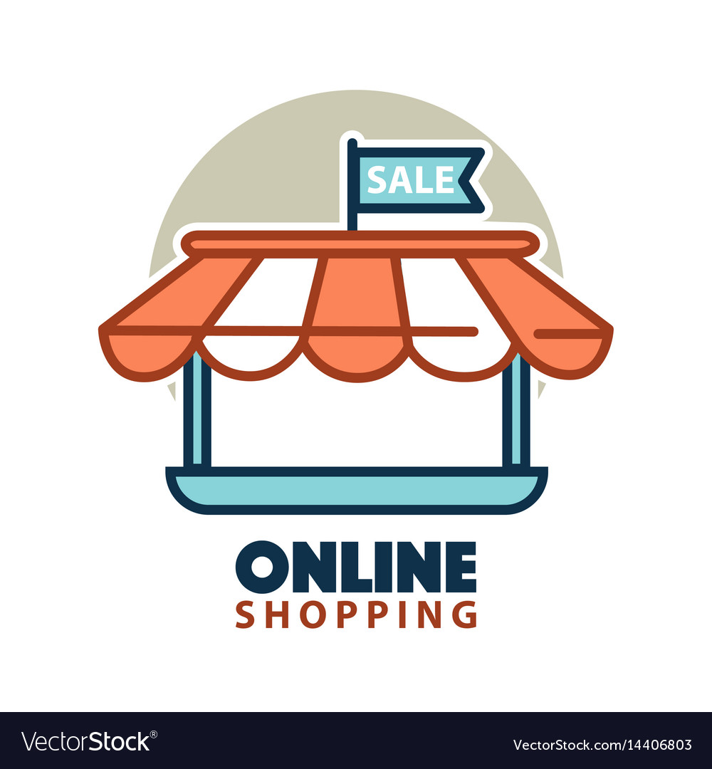 Stand of online store logo